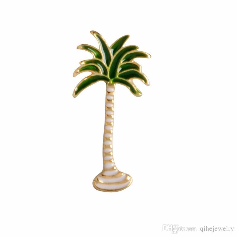 Kaktus Palm Blätter Pflanze Baum Natürliche Revers Pin Emaille Brosche Kragen Pins Jeansjacke Pullover Dekor