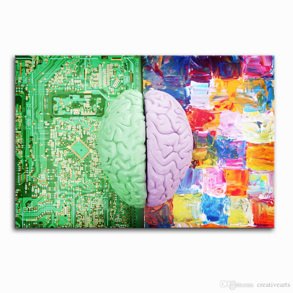 2018 Creative Brain Inspiration Painting Canvas Printing Art Decor Sensation Digital On Unframed60cmx90cmx From Creativearts