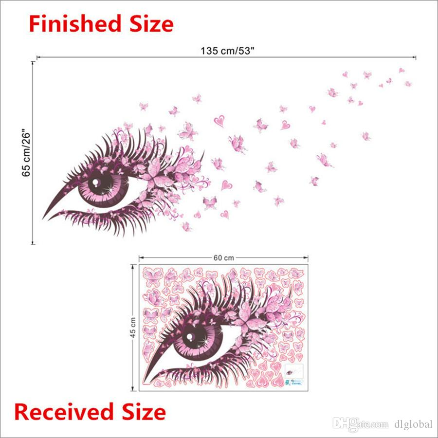 Sexy Girl Eyes Butterfly Wall Stickers Living Bedroom Decoration Diy Home Decals Mual Poster Girls Room Decor