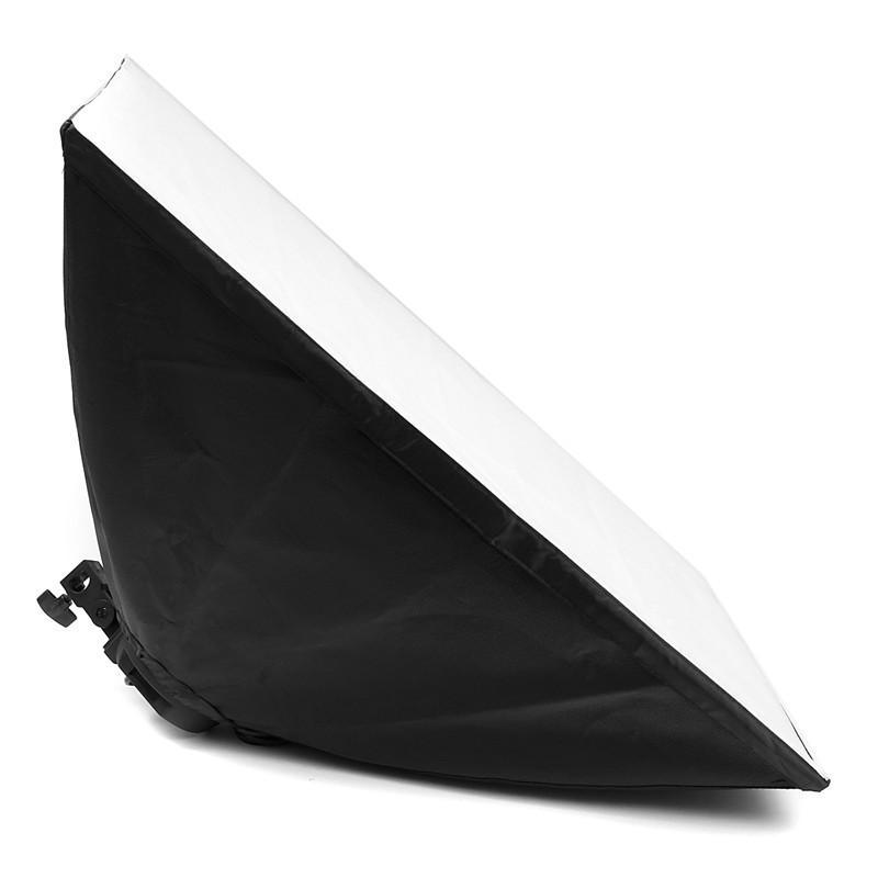 Freeshippig Digital Photo Studio Kit Photography Lighting 4 Socket Lamp Holder 50x70CM Softbox Photos Soft Box Not Included 2m Light Stand
