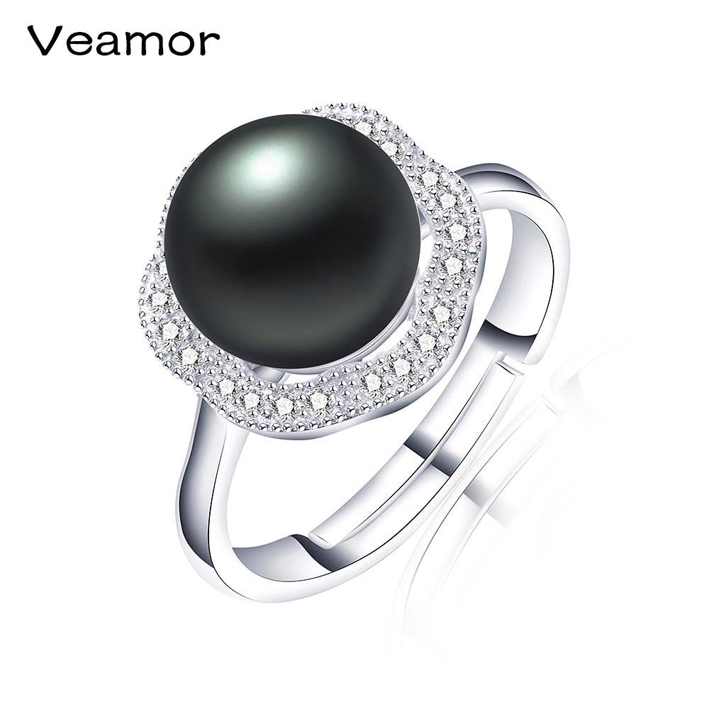 93bdef5b3f9 VEAMOR New Fashion Female Wedding Bands Jewelry Silver 925 Rings ...