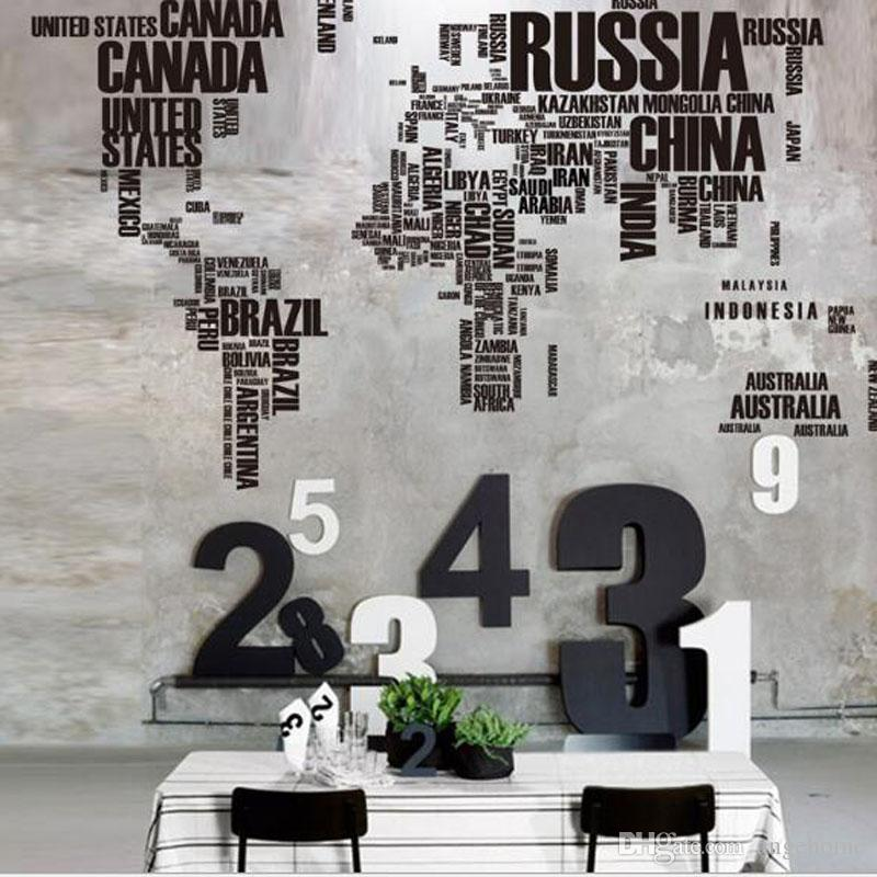 116 190cm Large World Map Interactive Map Wall Stickers Creative