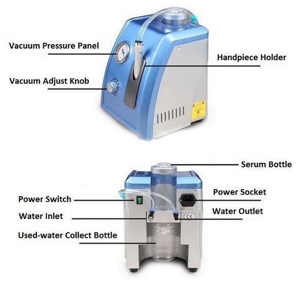 Профессиональная портативная гидродермабразионная машина для водной дермабразии с алмазной микродермабразией для ухода за кожей лица