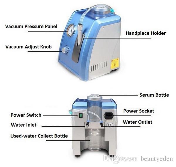 Yüz cilt bakımı için profesyonel Taşınabilir hidro dermabrazyon su dermabrazyon elmas mikrodermabrazyon makinesi