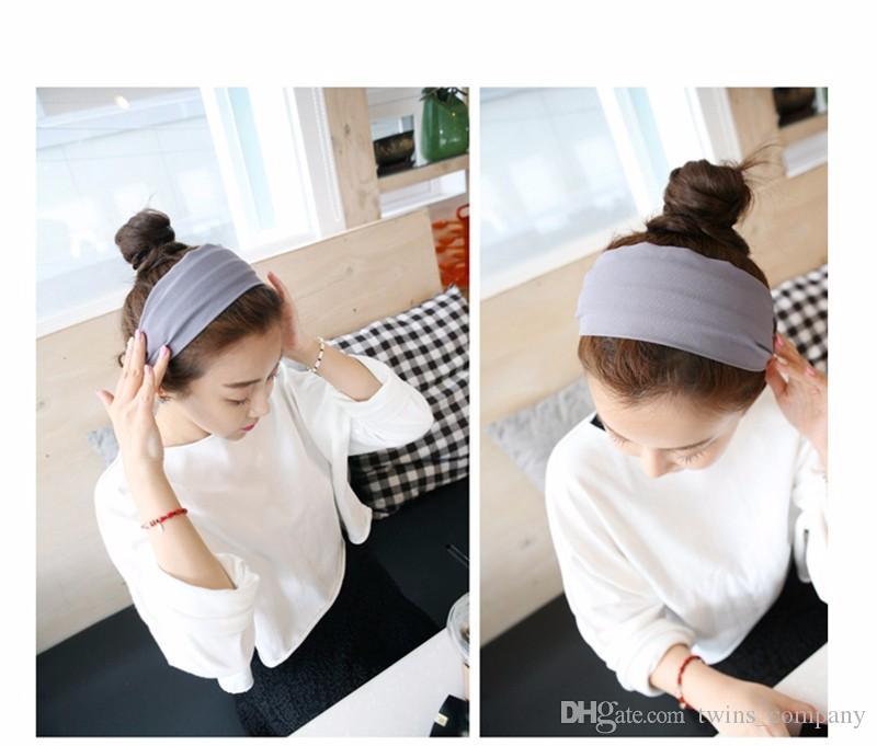 Orean Stil Frauen Haarband Baumwolle Casual Gesicht Schild Stirnband Weibliche Frau Haarschmuck Haarbögen Für Frau