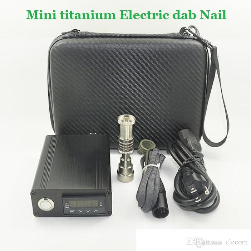 Retail Mini titanium Electric dab Nail universal DNail set 10 16 20mm female glass Hookahs bong 6in1 bongs Ti e-cigs Rig nail Kits
