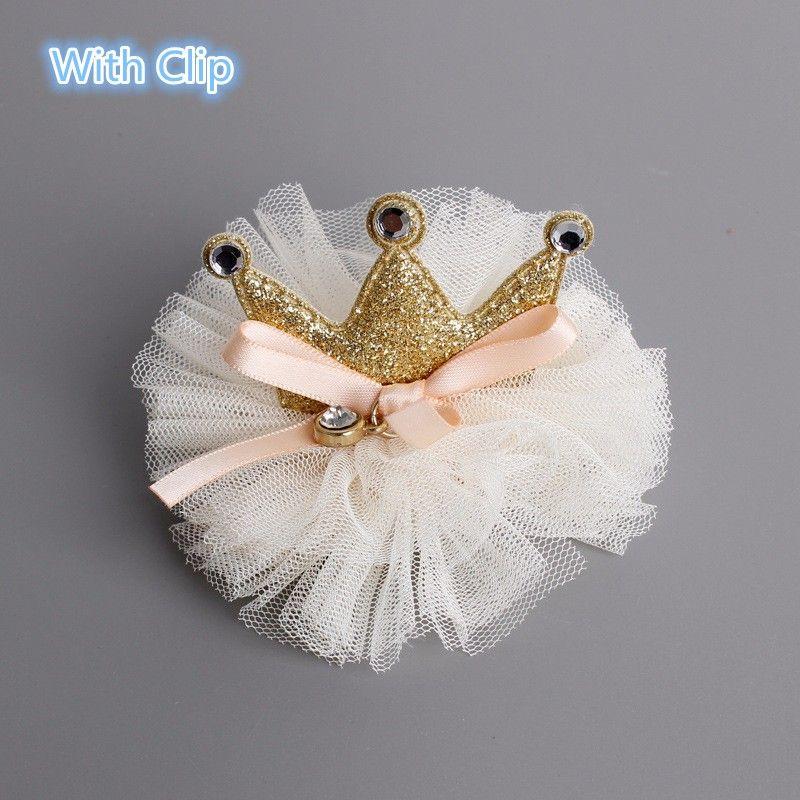 Princesse filles Or Couleur café classique Nouveau-né cheveux Bow Couronne Bandeaux clips enfants Birthday Party bricolage Artisanat Accessoires cheveux