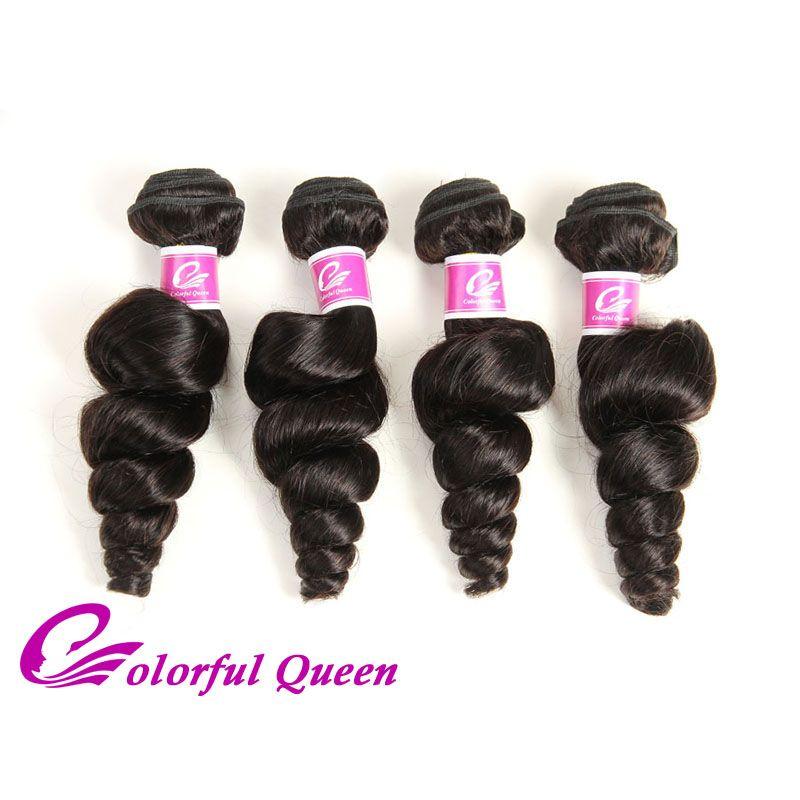 Renkli Kraliçe İşlenmemiş İnsan Saç Paketler 400g Sınıf 7A Brezilyalı Bakire Saç Gevşek Dalga 4 Demetleri Fırsatlar Saç Gevşek Kıvırmak 8-26 Inç