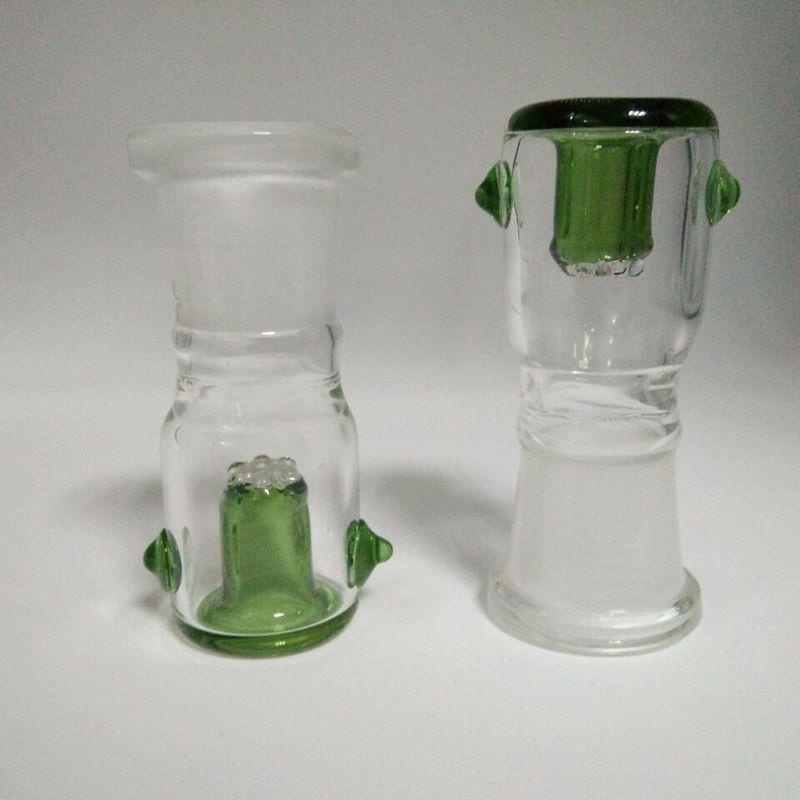 Recipiente de vidrio vendedor caliente con pantalla de nido de abeja redondo 14.4 mm 18.8 mm macho hembra conjunto es opcional para bongs de vidrio tuberías de agua