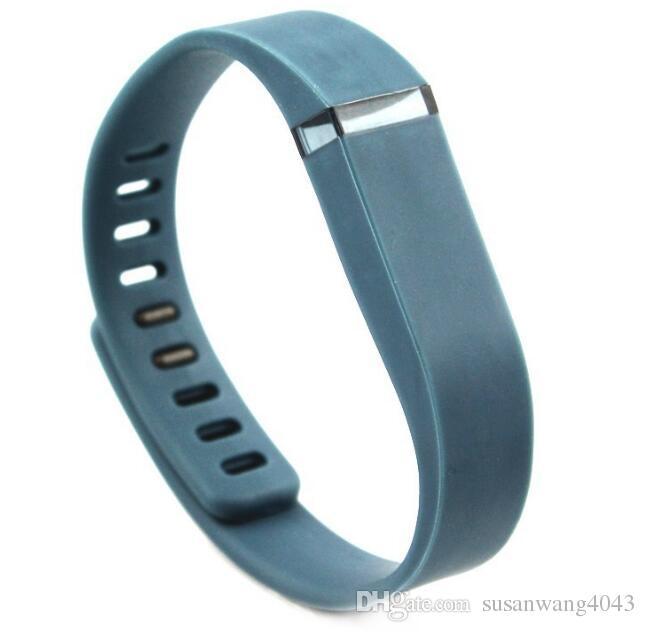 bande de silicone pour fitbit Flex smart Bracelet Sangles Sport Boucle Bracelet montre intelligente couleur unie des matériaux écologiques GSZ272