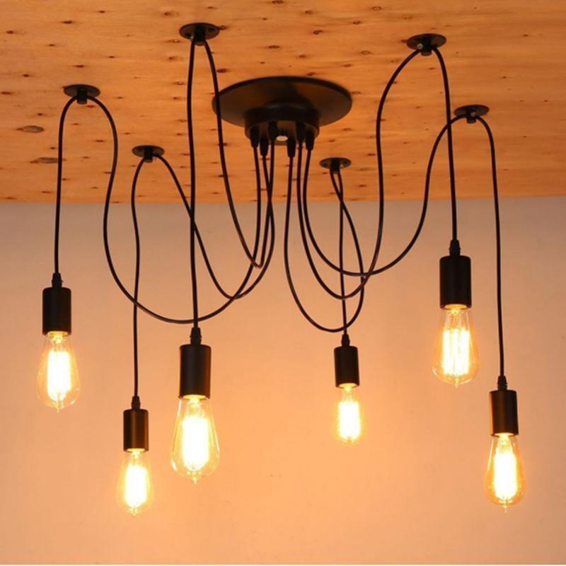 Discount Modern Nordic Retro Edison Chandelier Lighting Vintage ...