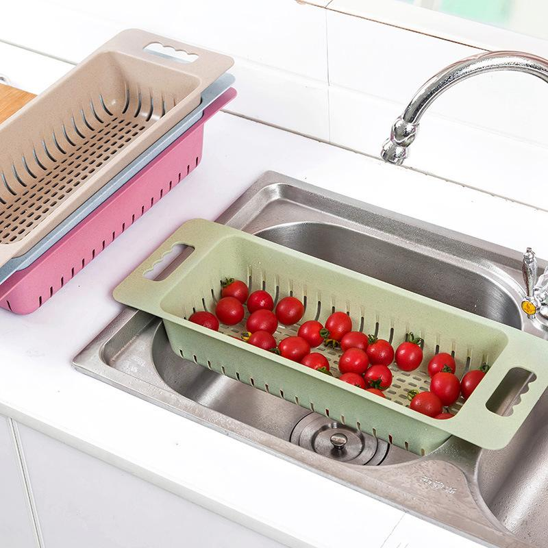 2018 Plastic Bowl Storage Basket Kitchen Sink Draining Rack ...