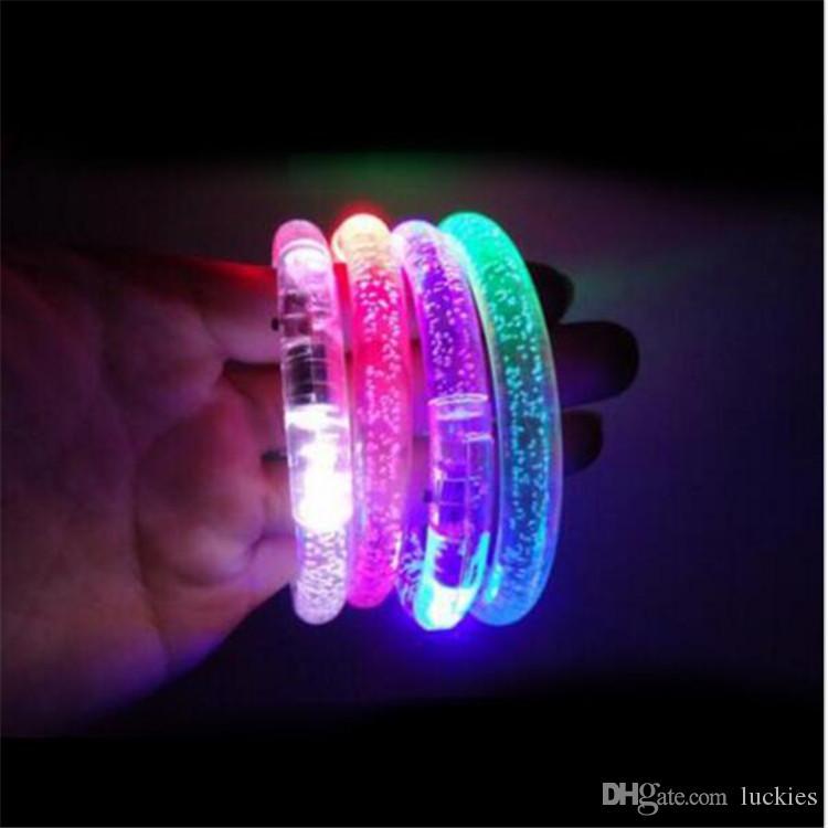 LED Armband leuchten blinkend Leuchtendes Armband Blinkendes Kristall Armband Party Disco Weihnachtsgeschenk Partyzubehör