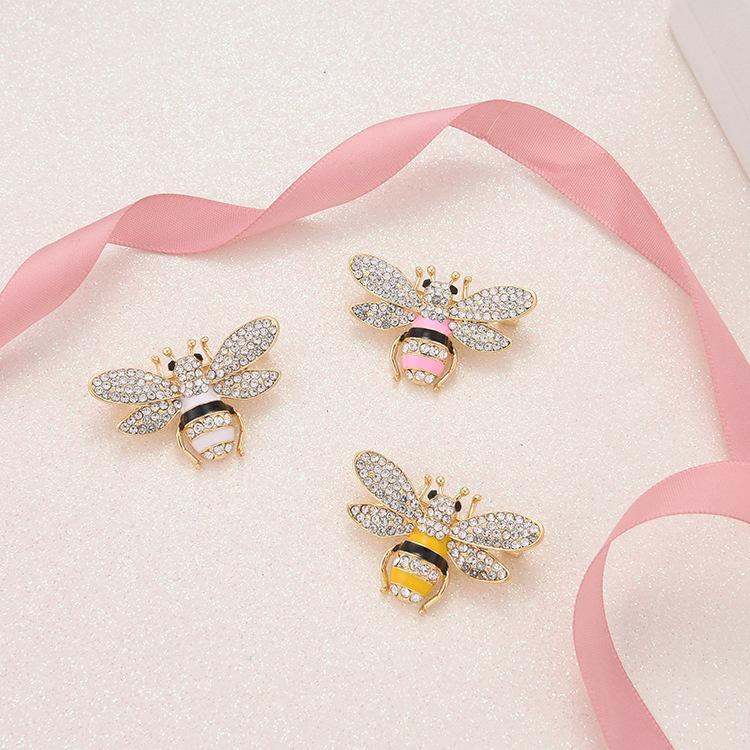Marque Designer Bee pour les femmes PINS Broches haute qualité strass cristal Boucle Broche luxe Bijoux en gros