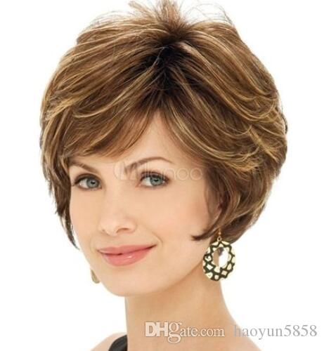 New Sexy Women S Blonde Brown Mix Short Full Really Hair Piece