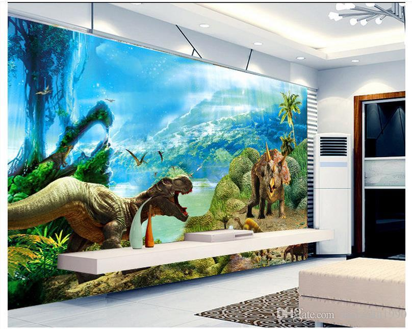 3D photo wallpaper custom wall murals wallpaper 3 d dinosaur dreamy background wall paper tv setting 3d living room wall decor
