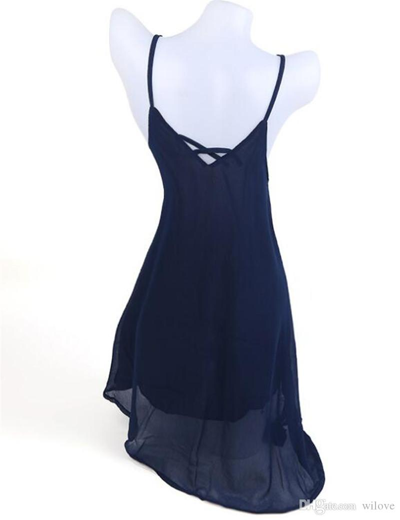 Sexy Fashion Casual Dresses Women Summer Sleeveless Evening Party Beach Dress Short Chiffon Mini Dress Boho Women Clothing