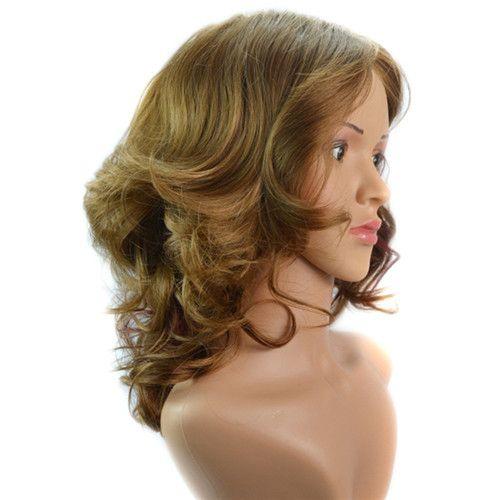 Kurze Sprial Locken Günstige Synthetische Haar Perücken Medium Side Bang Perücke für Frauen Hitzebeständige Synthetische Perücke