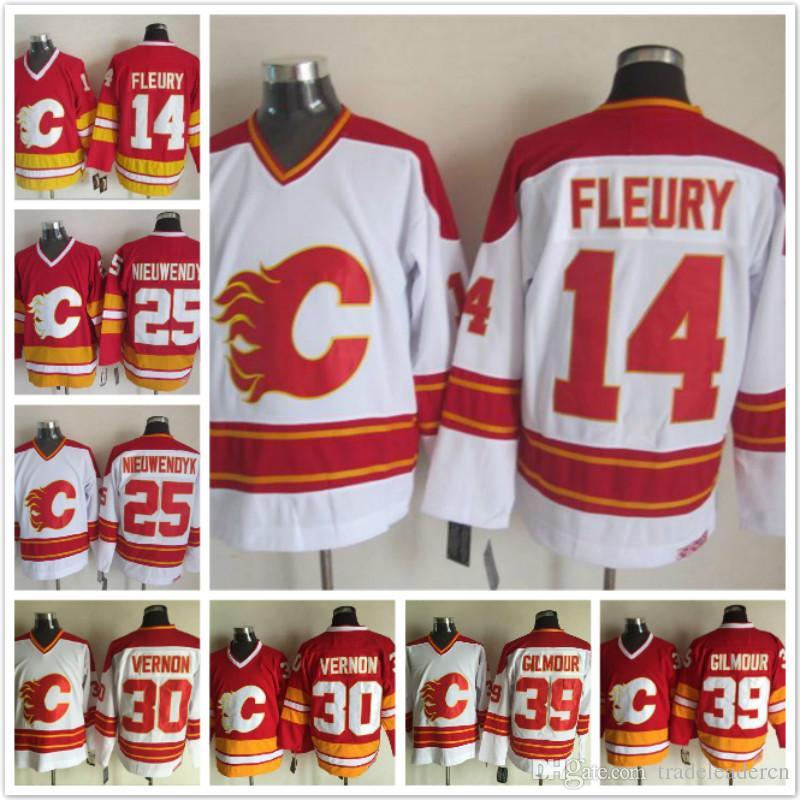 nhl jerseys calgary flames 30 mike vernon red jerseys rh ng creations com
