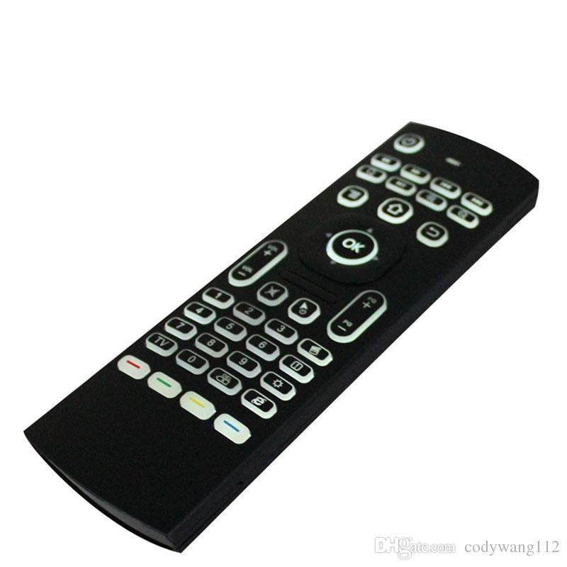 MX3 Backlight Clavier sans fil avec IR Learning 2.4G Télécommande sans fil Fly Air Mouse rétro-éclairé pour MXQ PRO T95M X96 Android TV Box PC