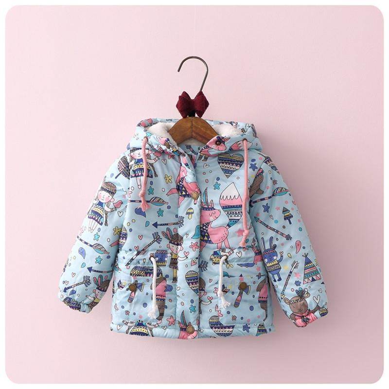 Tbwish Kids Children Jackets Girls Hooded Cartoon Warm Coat Girls ...
