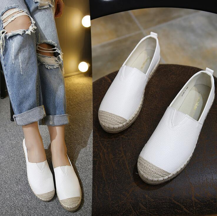 e8a1cb423a2 2017 High Quality Fashion Women Flats Loafers Casual Leather Shoes ...