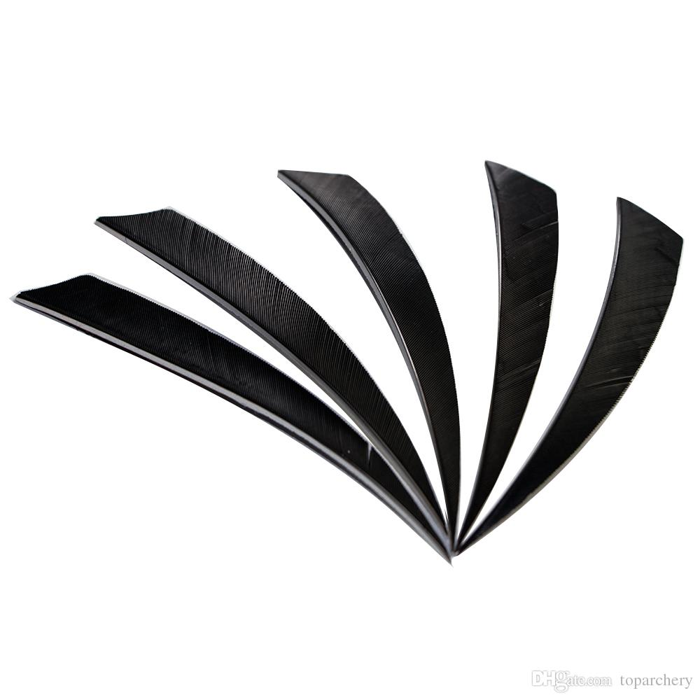 5'' Right Wing Feathers for Glass Fiber Bamboo Wood Archery Arrows Hunting and Shooting Shield