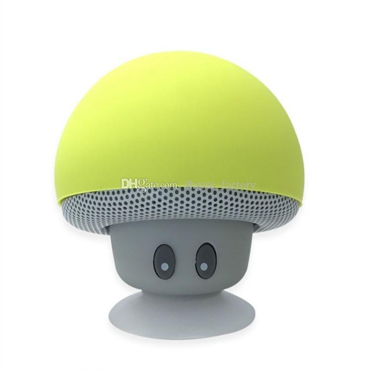 2018 Brand New Cool Gadgets Colorful Mini Bluetooth Speaker Mushroom Speaker 3.0 With Mic And Suction Cup For Mobile Phone IP6S Wholesale