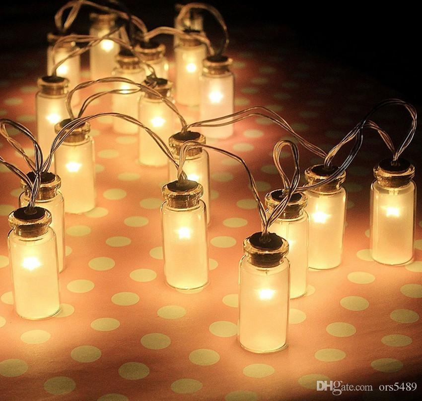 led string light dailyart vintage clear glass jar led string