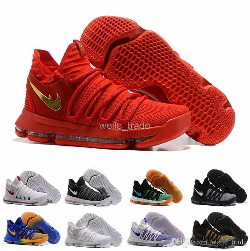 99e32c3e2c1f ... coupon 1d766 be8c2 2017 New KD 10 X Men Basketball Shoes Homme White BHM  Kevin Durant ...