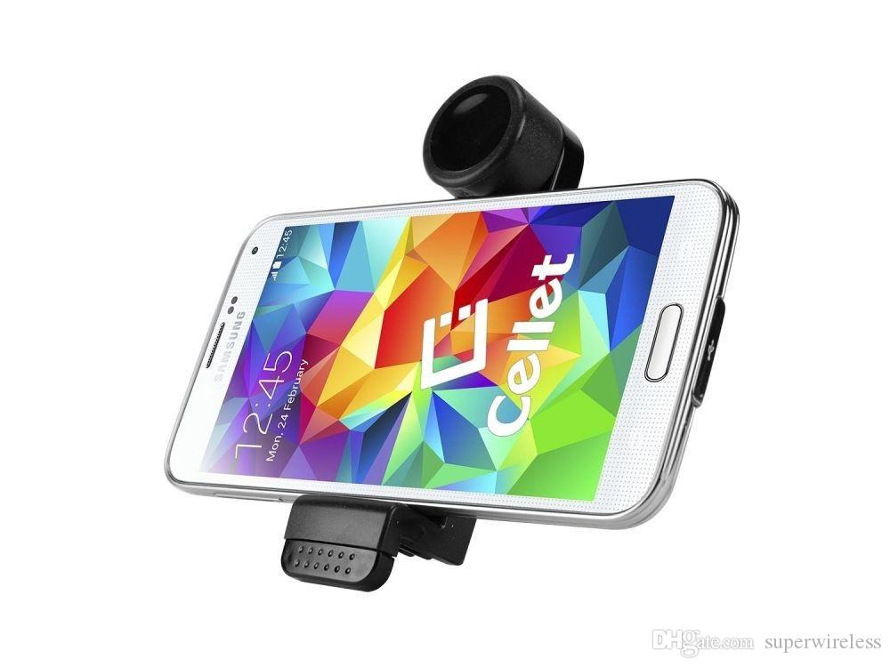 Universal Portátil Suporte de Montagem de Ventilação de Ar Do Carro Do Telefone Móvel GPS Titular Quadro de 360 Graus de Rotação para o iphone 6 plus 5s telefone inteligente com pacote