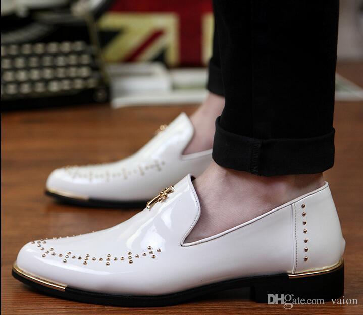 Erkekler lüks Tasarımcı Dini Çapraz perçin Rahat Mavi beyaz kırmızı Ayakkabı Erkek Homecoming Elbise Düğün Balo parti ayakkabı erkekler için 247