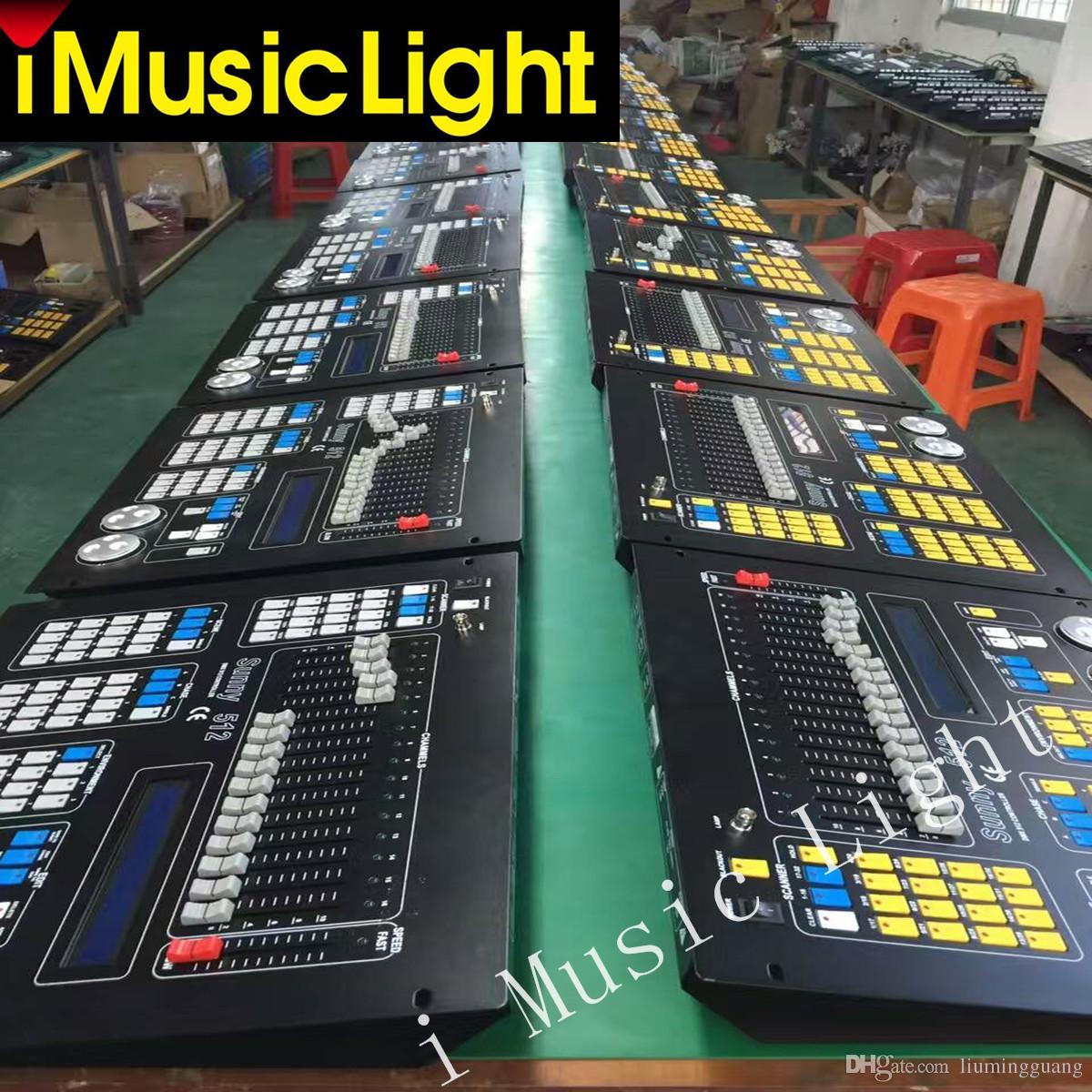 Nova Ensolarado Controlador Dj Sunny512 Consola de Luz 512 Dmx Canais de Controle 32 Luzes de Cabeça Em Movimento 2 interface de saída dmx controlador