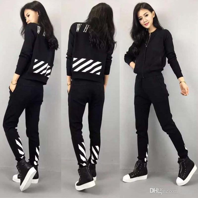 2018 Wholesale Korean Style Xxl Tracksuit For Women Autumn Sportwear Long Sleeve Sport Suit ...