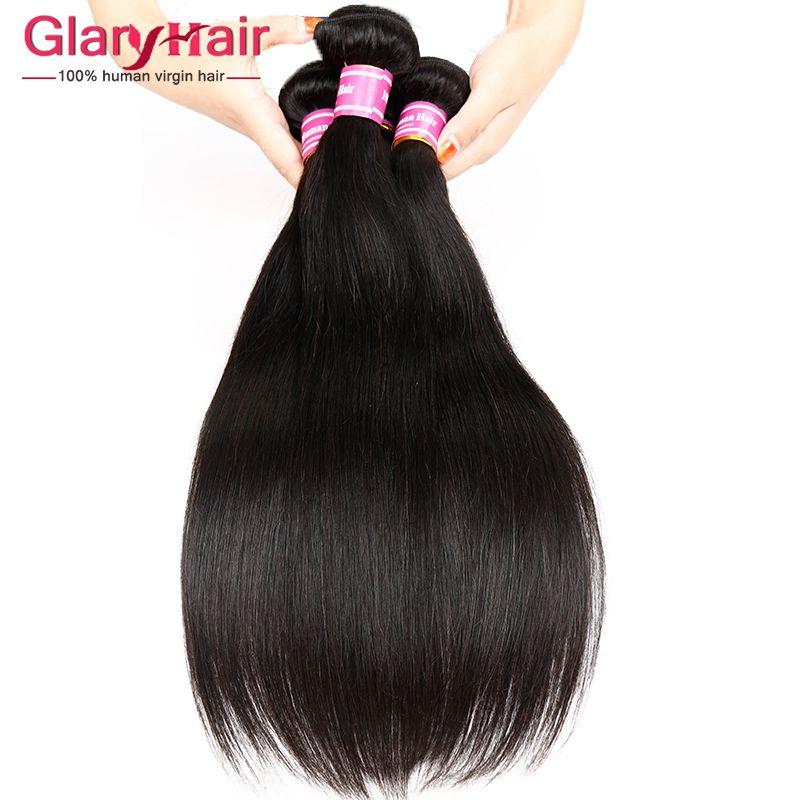 El pelo recto malasia verdadero de la Virgen sin procesar teje las extensiones baratas del pelo humano de Remy visten la manta brasileña peruana malaya de los paquetes del pelo