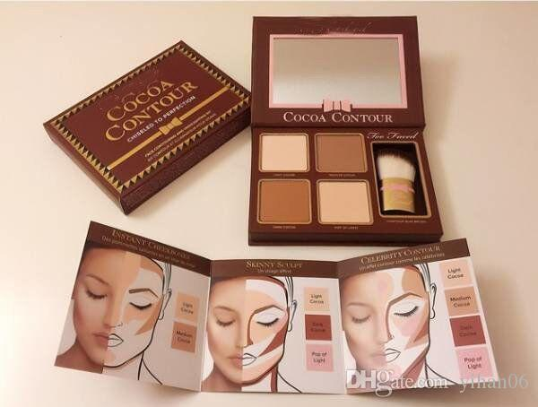 ... COCOA Contour Kit Highlighters Palette Nude Color Cosmetics Face Concealer Makeup Chocolate Eyeshadow With Contour Buki Brush Best Bronzer For Pale Skin ...