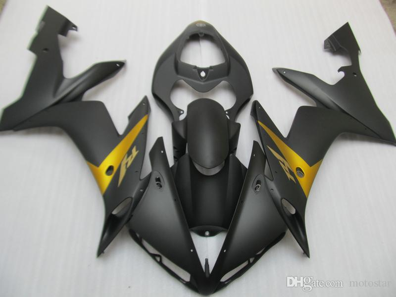 Injection molding body work fairing kit for Yamaha YZFR1 2004 2005 2006 matte black fairings set YZF R1 04 05 06 OT07
