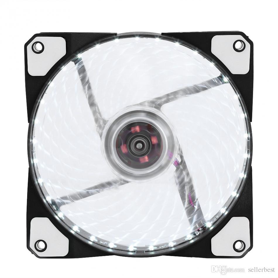 LED Silent Fans Kühlkörper Kühler Lüfter für Computer PC Kühlkörper 120mm Lüfter 3 Lichter 12V Luminous 3Pin 4Pin Stecker
