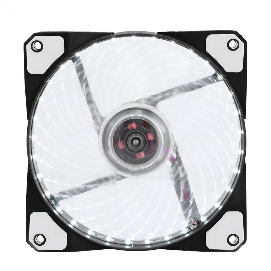 Ventiladores silenciosos LED Disipador de calor radiante Ventilador de enfriamiento para computadora PC Disipador de calor Ventilador de 120 mm 3 luces 12V Luminoso 3Pin 4Pin Plug