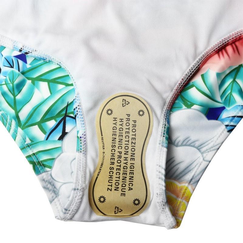 Pj One Piece Maillot De Bain Femmes 2017 Floral Imprimer Maillot De Bain High Cut Maillot De Bain À Volants Plus La Taille Monokini String Maillot De Bain Femme