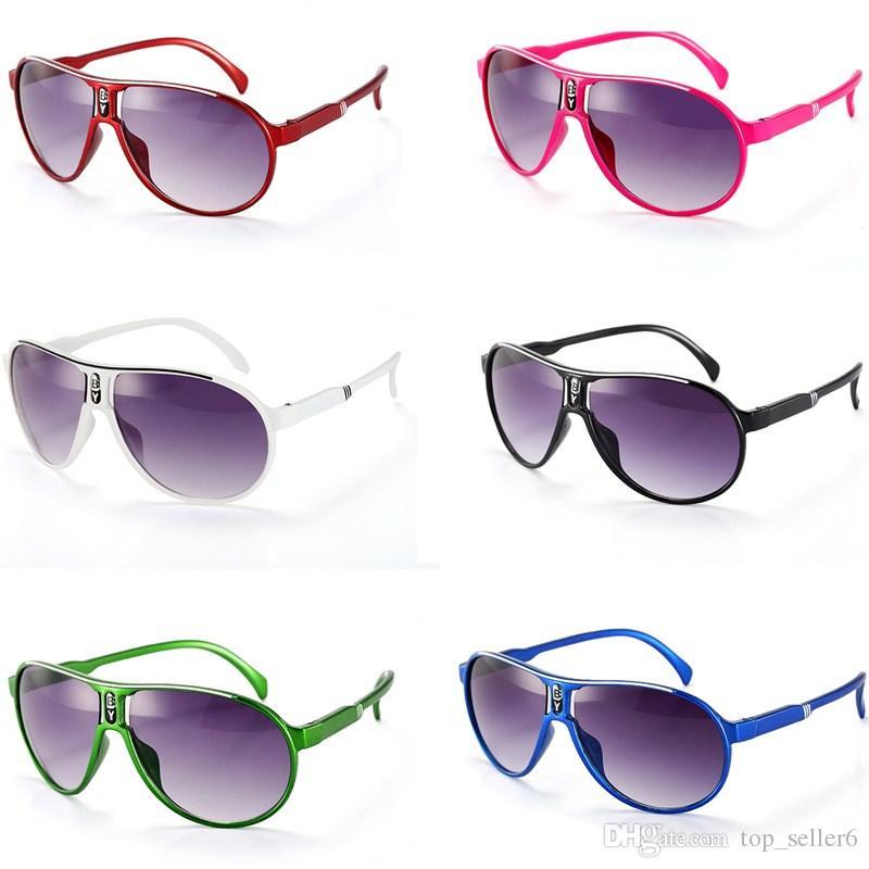 Compre Crianças Óculos De Sol De Verão Bebê Meninos Meninas Marca Designer  Óculos De Sol Crianças Brinquedos De Praia Uv400 Óculos De Sol Óculos De Sol  ... 1de2712db0