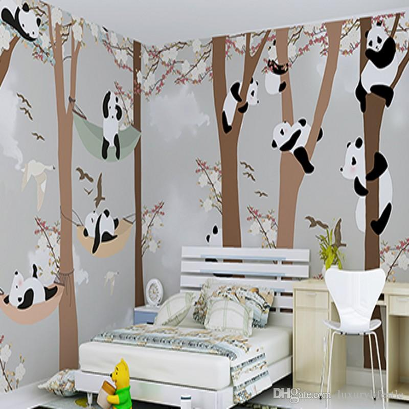 3D Stereo Custom Children Room Wallpaper Boys Girls Bedroom Cartoon ...