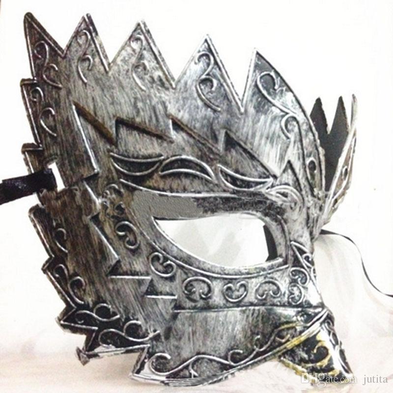 Classic Retro Greek Roman Soldier Gladiator Mask Party Masquerade Ball Mardi Gras Facial Eye Mask Men 2016