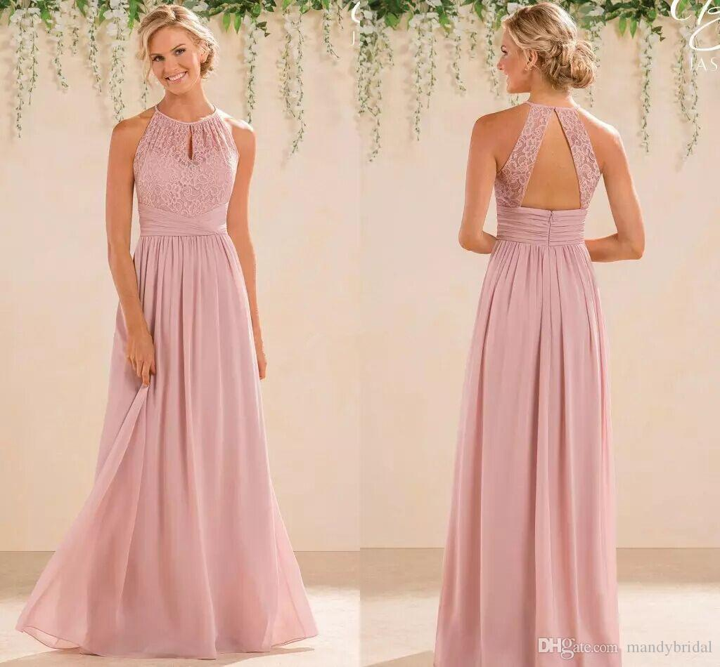 Compre 2018 Vestidos De Dama De Honor Baratos De La Gasa Del Cordón ...
