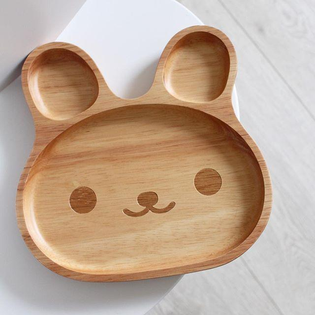 2018 Eclouds Cute Cartoon Baby Wooden Plates Tray Kids Dinnerware Cartoon Rabbit Design Kids Snacks Dessert Wooden Dish Tray From Kidplayground ... : wooden plates - pezcame.com