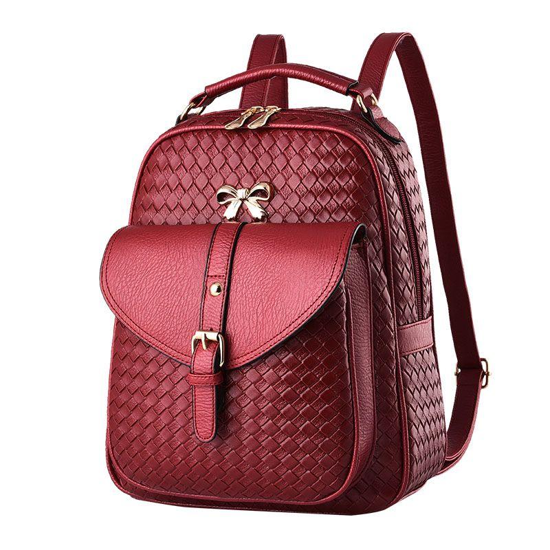 bc91ff6249bd1 Fashion Famous Brand Backpacks PU Desinger Women Leather Luxury Handbags  Bow Shoulder Bags Totes Messenger Crossbody Bag Free Ship Z003 Fashion  Women Bags ...