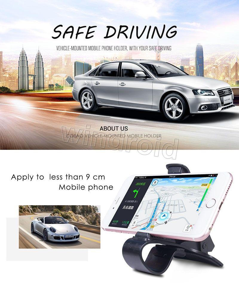 Soporte universal ajustable para teléfono, soporte para teléfono, soporte para teléfono, soporte para teléfono móvil, teléfono móvil, soporte para GPS, pinza de sujeción, soporte + caja para minoristas