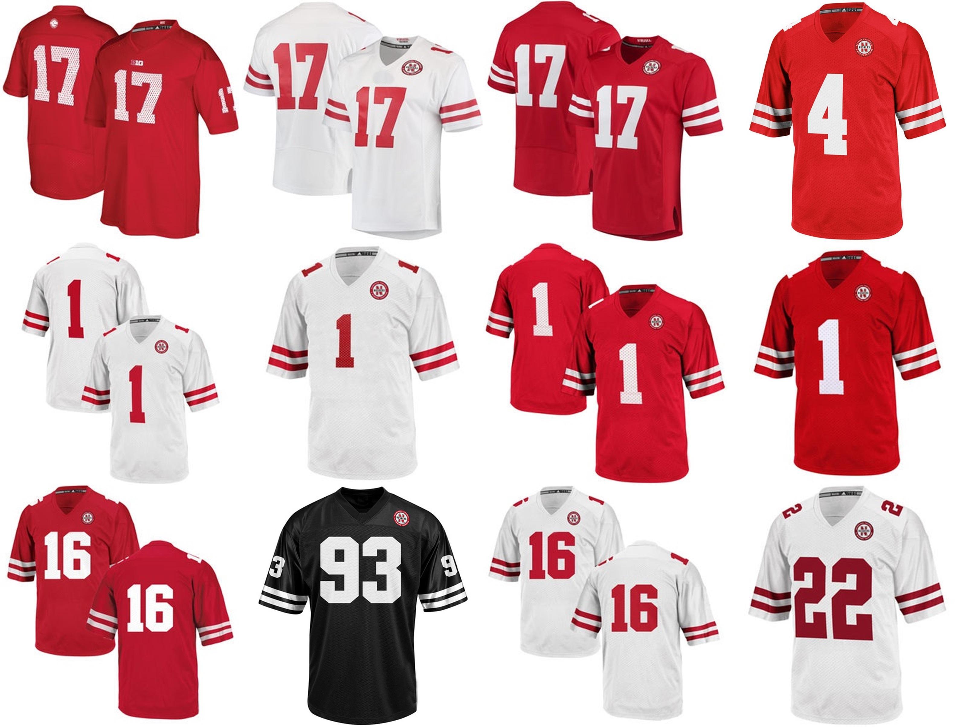 nebraska football jersey custom