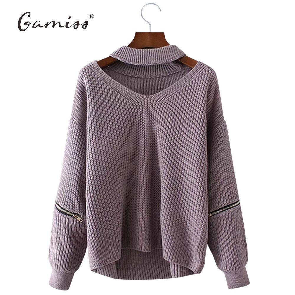 X201710 Gamiss Winter Spring Women Sweaters Pullovers Casual Loose ...