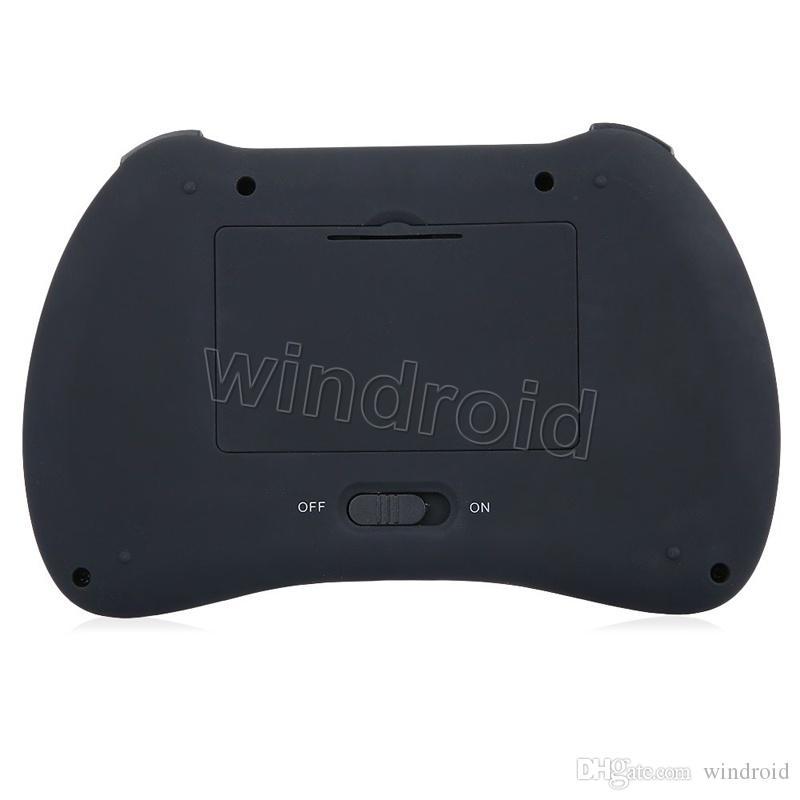 Aydınlatmalı Mini Klavye H9 2.4 Ghz Kablosuz Qwerty İngilizce Klavye Touchpad ile Mini PC için Akıllı TV TV Kutusu Dizüstü PC Aydınlatmalı ucuz 10 adet